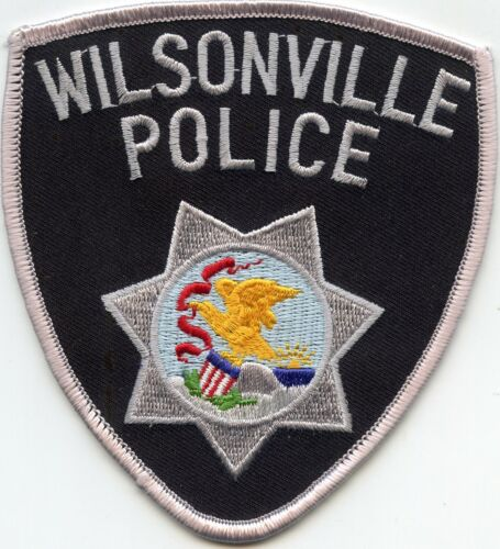 old vintage WILSONVILLE ILLINOIS IL POLICE PATCH
