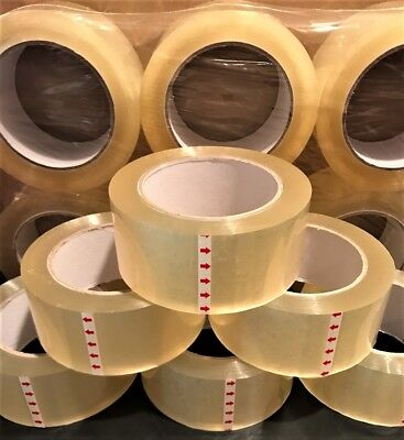 6 Rolls of Clear Packing Carton Sealing Box Tape 1.9 mil 3
