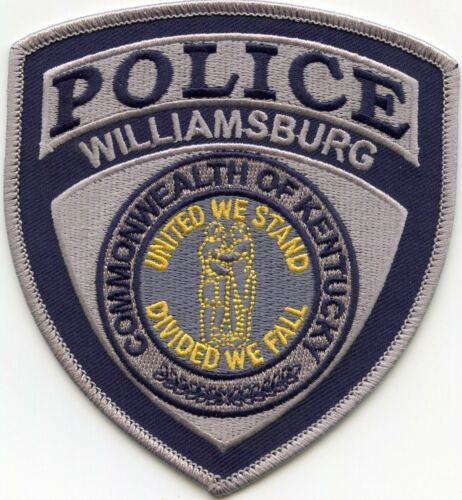 WILLIAMSBURG KENTUCKY KY United We Stand - Divided We Fall POLICE PATCH