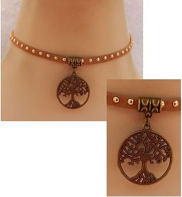 Gold Celtic Tree of Life Pendant Choker Necklace Handmade Adjustable NEW Fashion