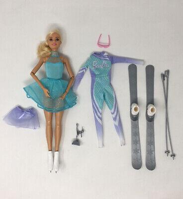 Mattel Barbie Doll Careers Advent Calendar Ice Figure Skater Skier Incomplete