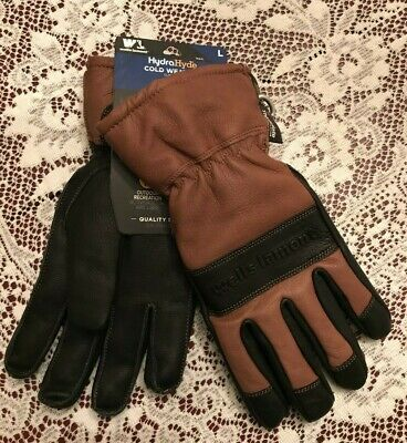 New Wells Lamont Hydra Hyde Thermal Work Gloves Leather 7664 Large Thinsulate