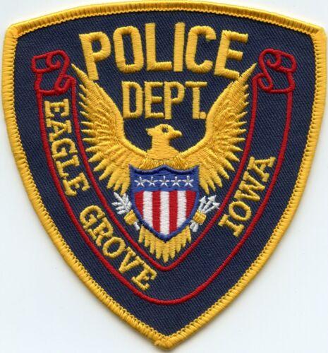 EAGLE GROVE IOWA IA POLICE PATCH
