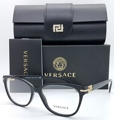 NEW Versace RX Frame Classic Glasses VE3205B GB1 54mm Black AUTHENTIC women 3205