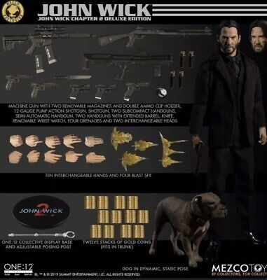 MEZCO ONE:12 COLLECTIVE JOHN WICK CHAPTER 2 DELUXE EDITION FIGURE - IN HAND