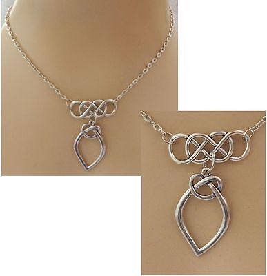 Silver Celtic Knot Pendant Necklace Jewelry Handmade NEW Accessories Fashion