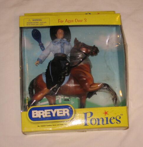 breyer ponies bay western cowboy horse set