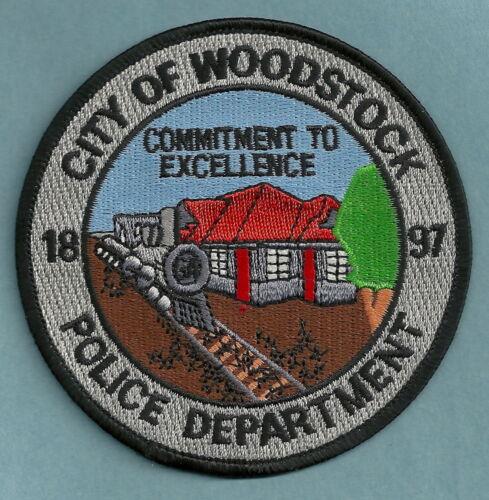WOODSTOCK GEORGIA POLICE SHOULDER PATCH LOCOMOTIVE