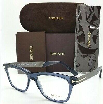 NEW Tom Ford RX Frame Transparent Navy Blue Silver FT5372 090 52mm GENUINE 5372