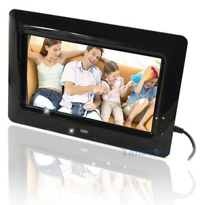 New 7 Inch TFT LCD Screen Super Thin Digital Photo Frame with SD slot Black