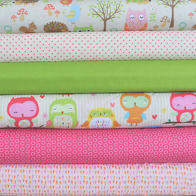 Owl & Co. 6 Fabric Fat Quarters by RBD Designers for Riley Blake, 1 1/2 yd total