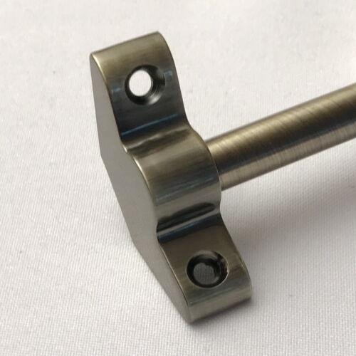 PLAIN BRACKET STAIR RODS ANTIQUE BRASS 3/8 x 28.5 INCH SET OF 13 (R02PB)