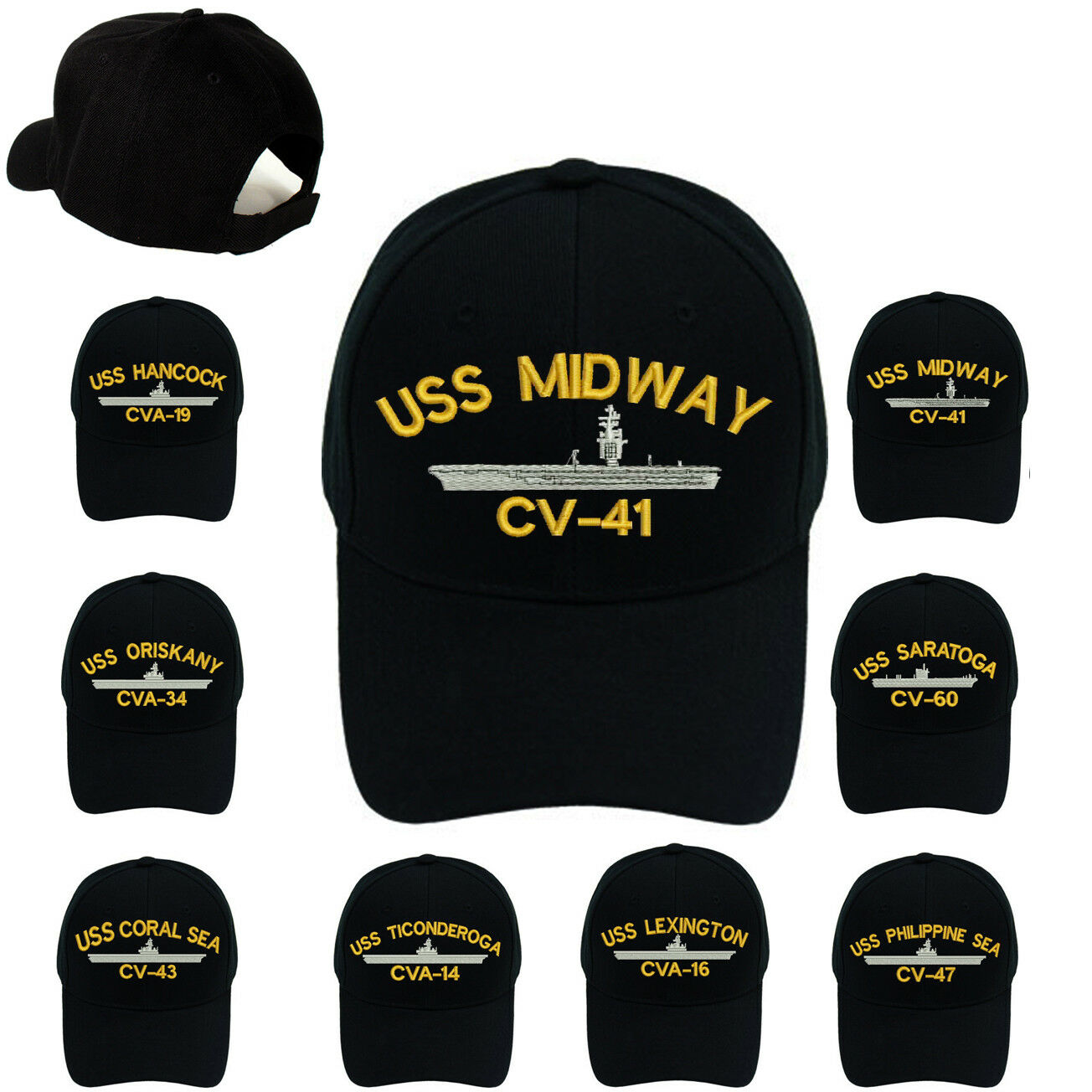 USS Coral Sea CV-43 Hat USN Ship Baseball Cap