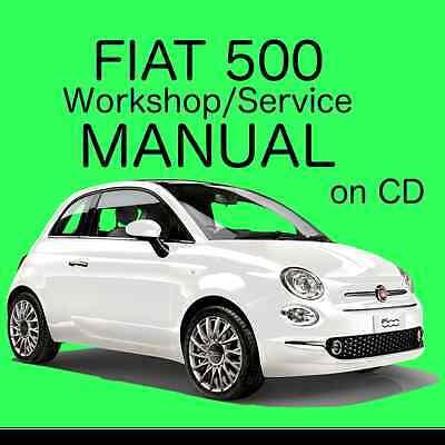 Fiat 500 (2007 - 2015) Type 312 Workshop / Service / Repair Manual on CD