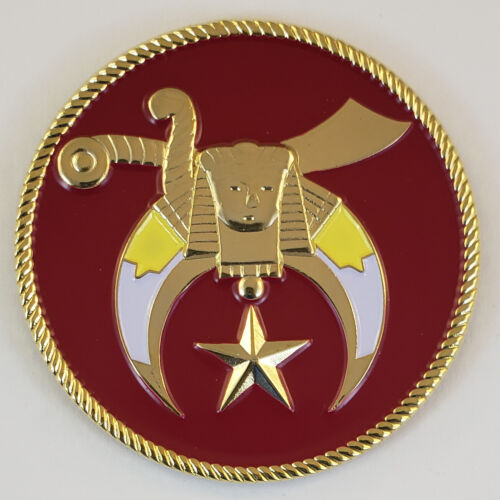 Mini Auto Emblem Shrine Shriner Metal Masonic Freemason Mason