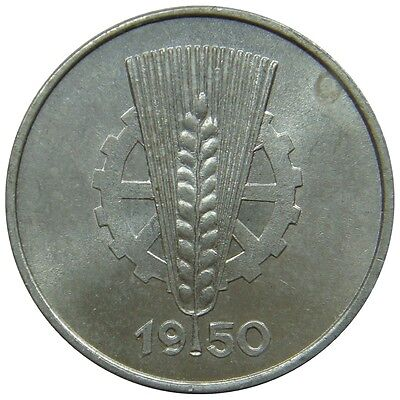 (M99) - Germany DDR - 1 Pfennig 1950 A - Ähre und Zahnrad - AU - KM# 1