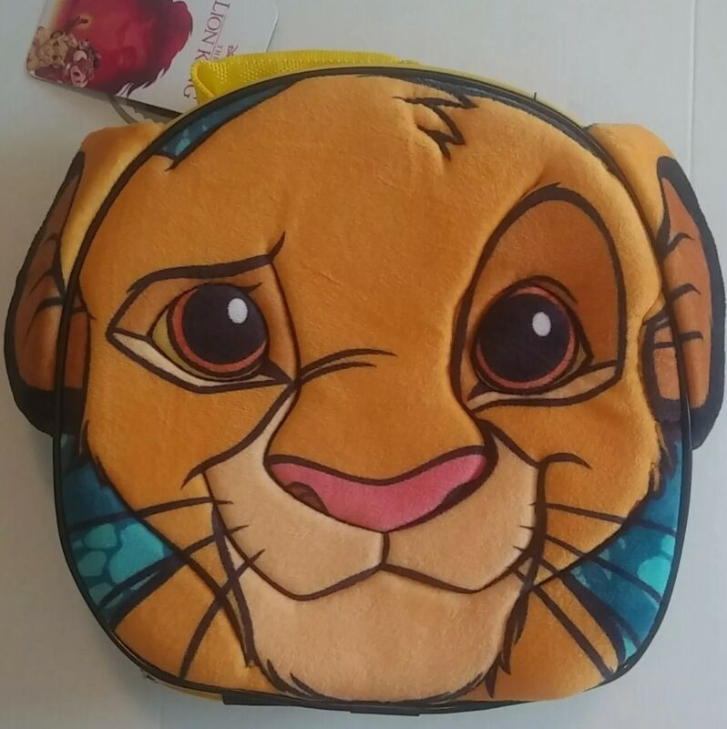 New with Tags The Lion King Simba Face with ears Lunch Box Soft Disney