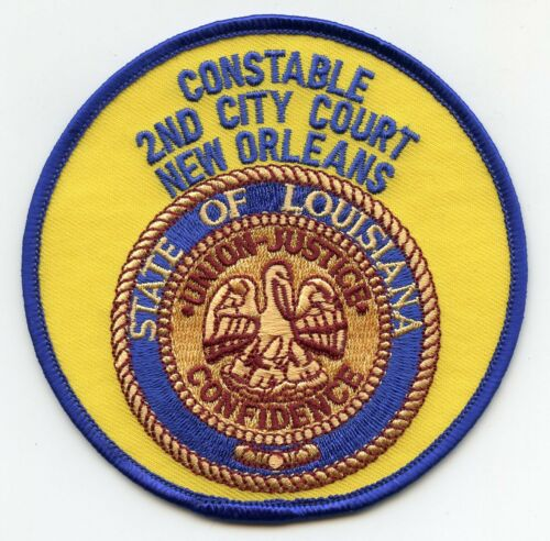 NEW ORLEANS LOUISIANA 2nd CITY COURT CONSTABLE sheriff police PATCH