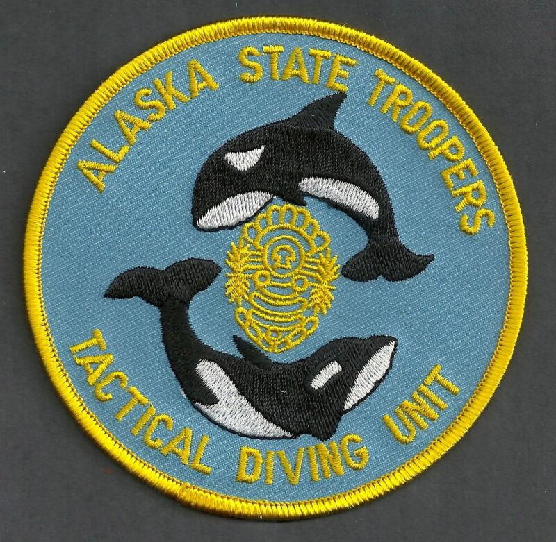 ALASKA STATE TROOPER TACTICAL DIVE TEAM POLICE SHOULDER PATCH