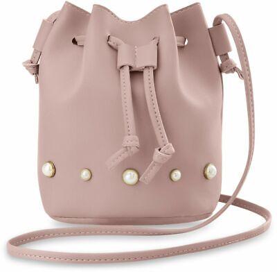Voll Perlen Handtasche (stilvolle Damen Beuteltasche mit Perlen originelles Design Handtasche rosa)