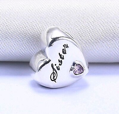 Genuine Pandora Sister Charm S925 Ale 🌹 Gift Pouch Included 🌹 TOP SELLER