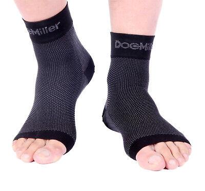 Doc Miller Plantar Fasciitis Arch Support Compression Ankle Brace Sock BLACK