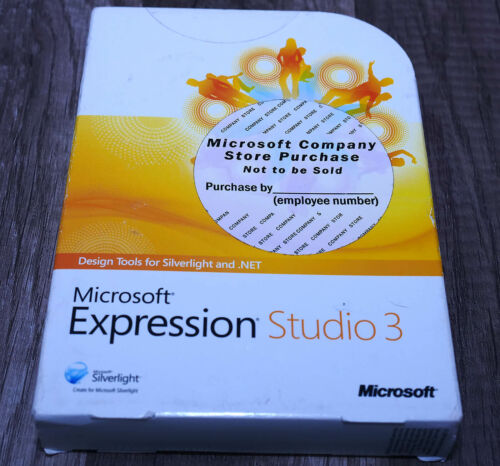BRAND NEW Microsoft Expression Studio 3 Win XP/Vista/7 full version PJS-00940