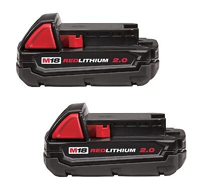 2-Her business a get GENUINE Milwaukee 48-11-1820 M18 18-Volt REDLITHIUM 2.0AH Battery
