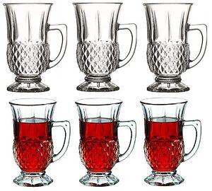 Pasabache Set of 6 Tea Glasses with Handles. 6 Handled Mugs in Gift Box