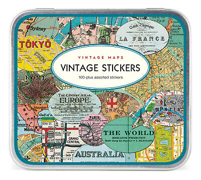 Cavallini & Co. Vintage Maps Decorative Label Sticker Set