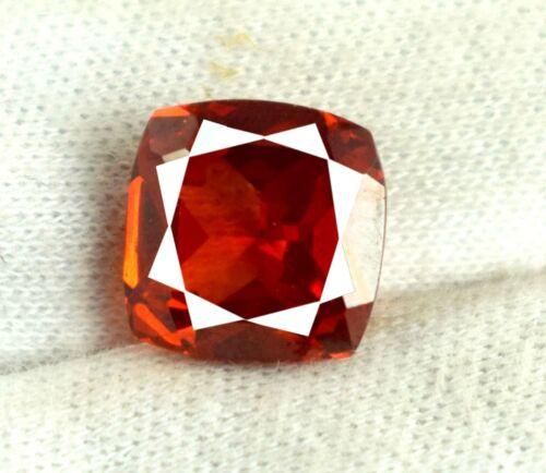 Cushion Orange Spessartine Garnet 10.70 Ct 100% Natural Gemstone Certified V8431