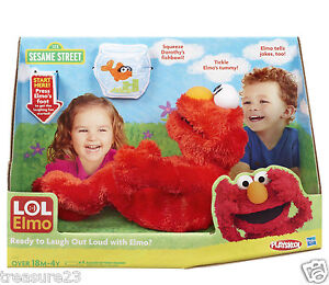 ELMO-LAUGH-OUT-LOUD-LOL-Animated-Laughing-Kicking-Elmo-Doll-Tickle-Buddy-New