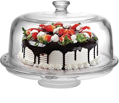 Circleware 6 in 1 Cake Plate Plate With Dome - Dome Cake