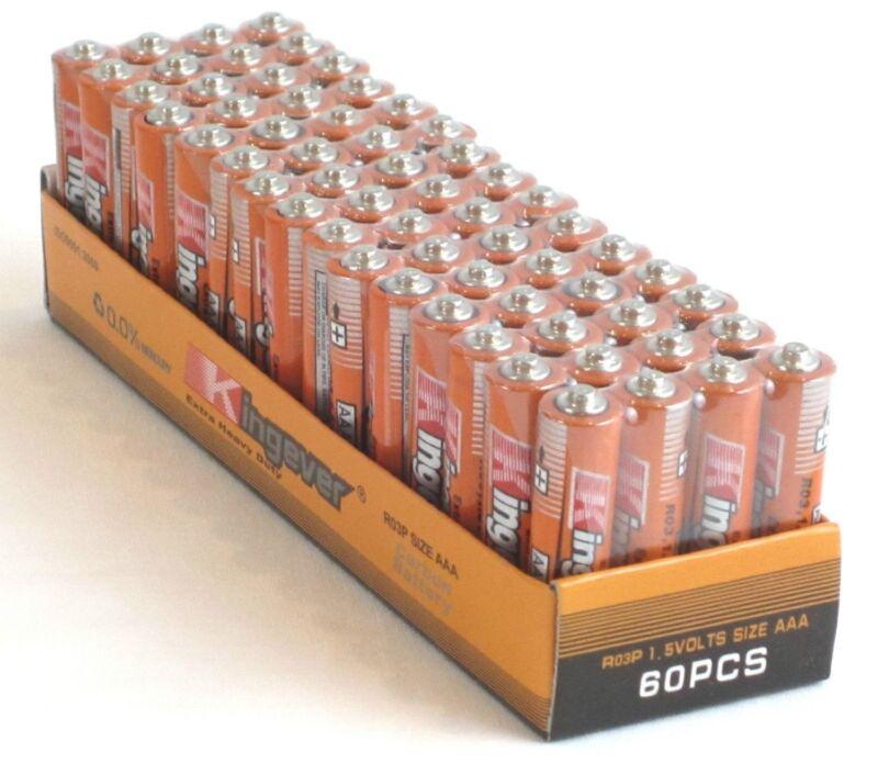 500 Pack AAA Batteries Medium Duty 1.5v. Wholesale Lot New Fres