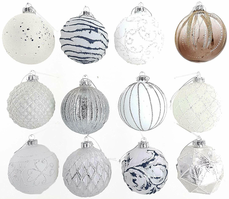 12 Luxus Weihnachtskugeln Christbaumkugeln Weihnachten Glas Weihnachtsdeko Q8