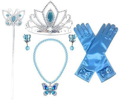 Princess Cinderella Butterfly Dress up Party 4-Piece Accessories Gift Set - Cinderella Clothes