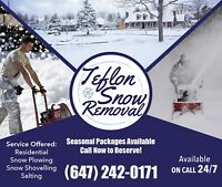 Teflon Snow Removal   For fast response text 647-242-0171