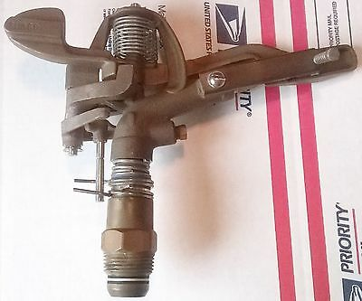 """6 WEST AG BRASS 1"""" INCH SPRINKLER HEADS PART OR FULL CIRCLE USA MADE SU360 4NDP6"""