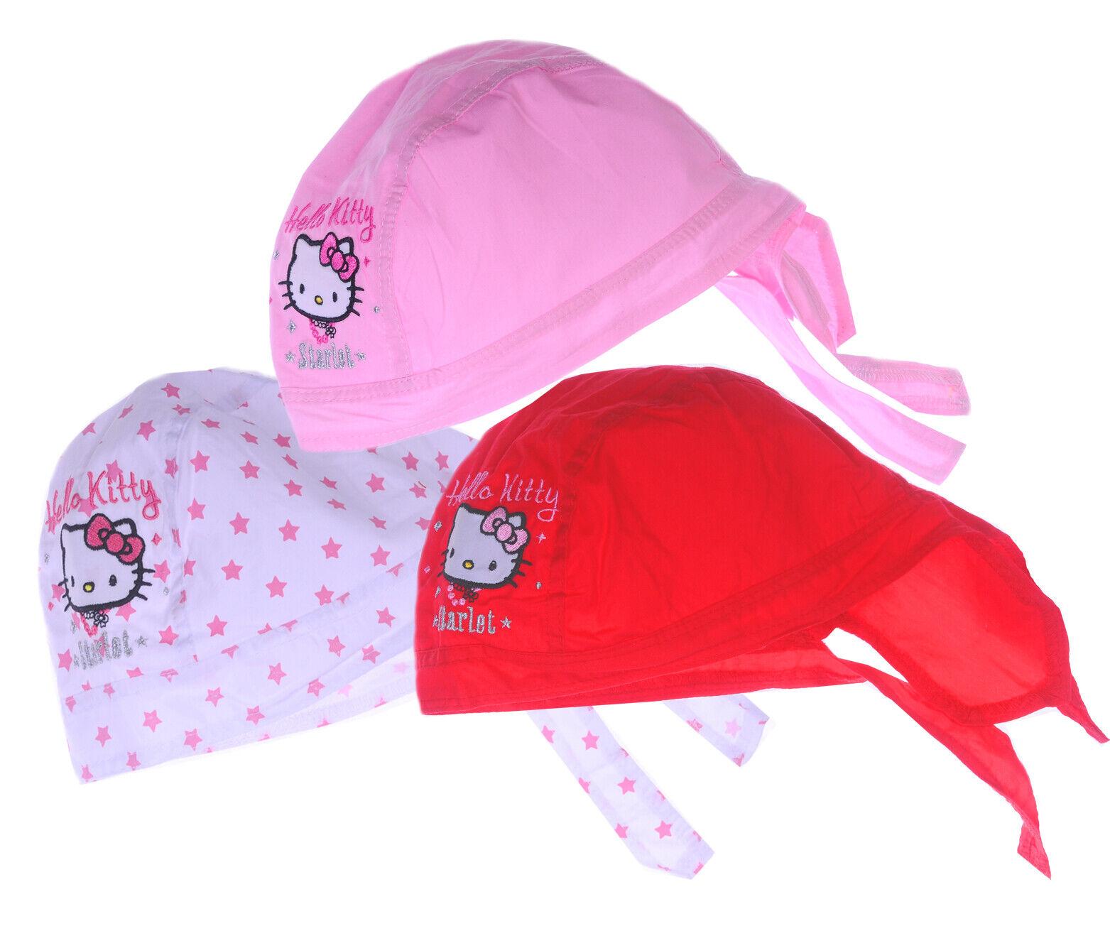 KOPFTUCH Hello Kitty Baby Bandana Sommer Mütze Kopfbedeckung Mützchen 44-48 Kids