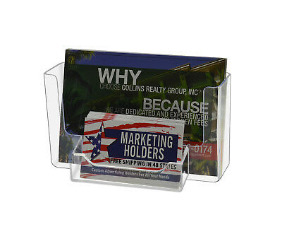 Postcard Display W Business Card Holder Wall Mount Counter Desk