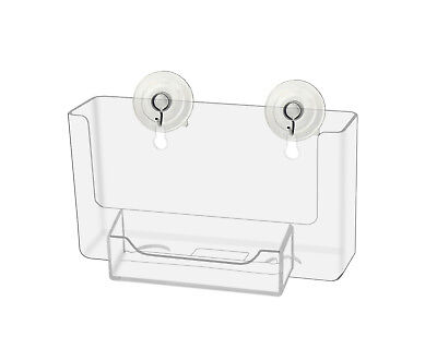 Window Postcard Display W Business Card Holder And Suction Cups