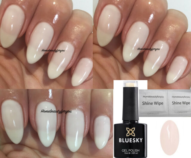 Bluesky A49 Milky White Ivory Nail GEL Polish LED UV Soak off Wipes ...