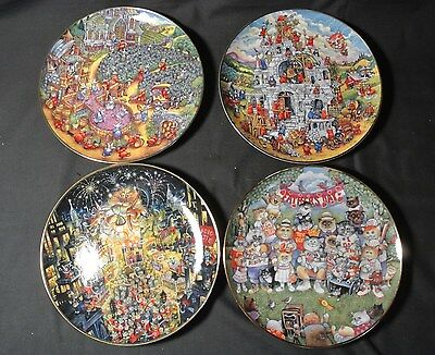 Vintage Kitty Cat - Franklin Mint - Bill Bell Limited Edition Collectors Plates