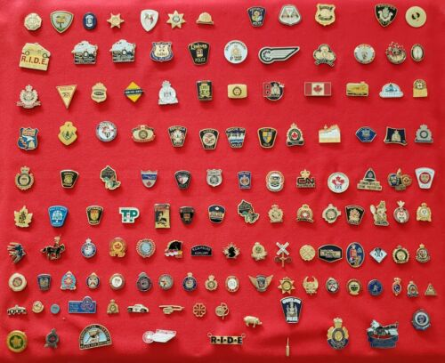 Lot of 130 Police Lapel Pins