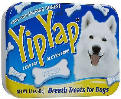 (2) Chomp Yip Yap Breath Freshener Tin Pack 1.4 Oz X's 2 Dog Treat Free Ship Usa