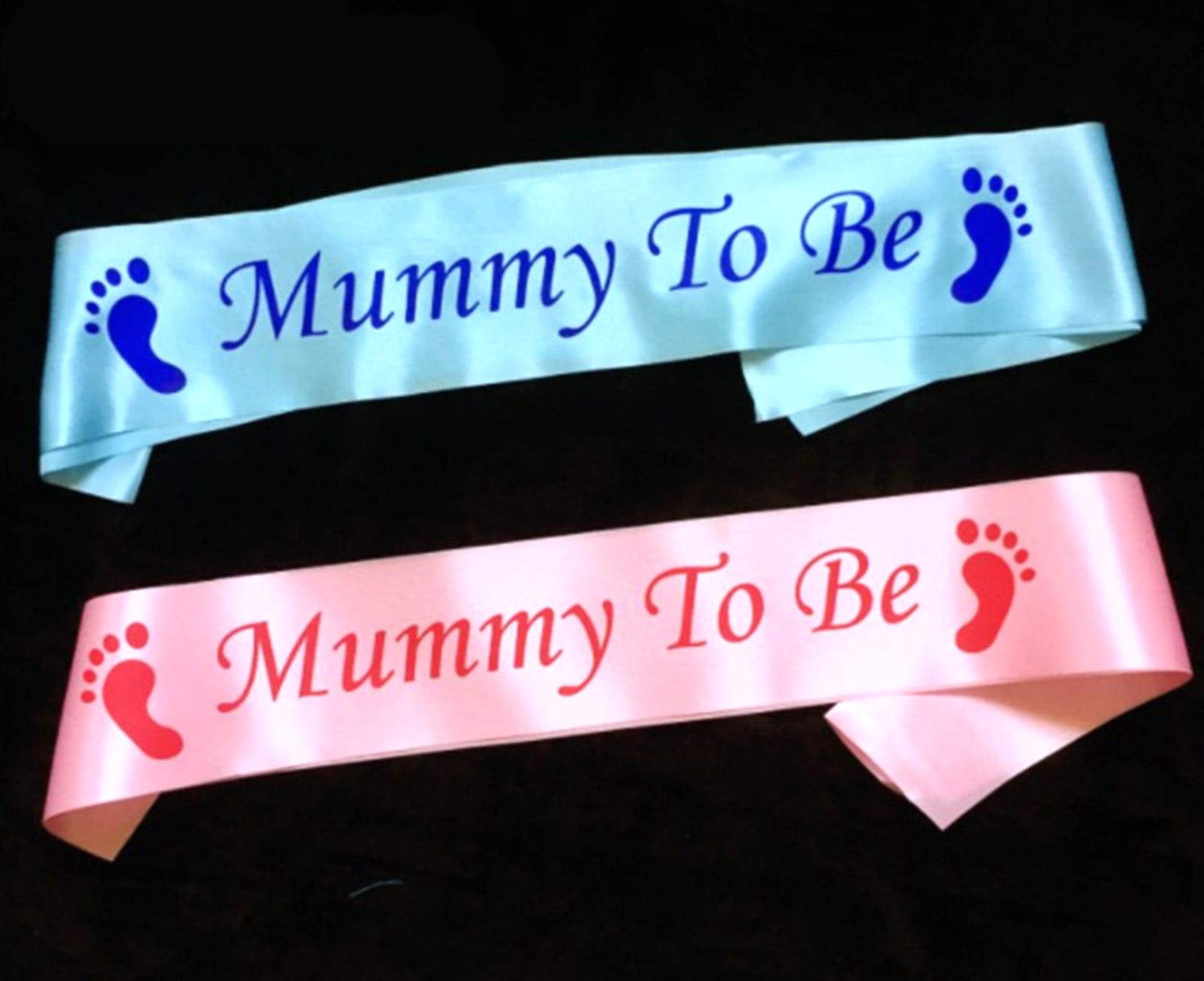 BABY PARTY! Schärpe Junge oder Mädchen für Mama Oma Shower Babyparty Geburt Deko