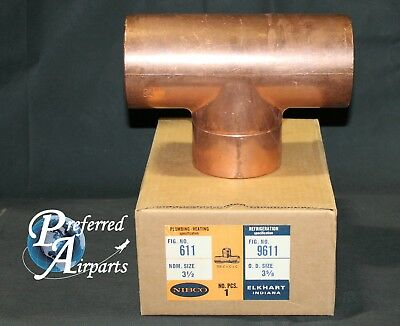 New Nibco Plumbing And Heating 3.625 Od Copper Tee Fitting