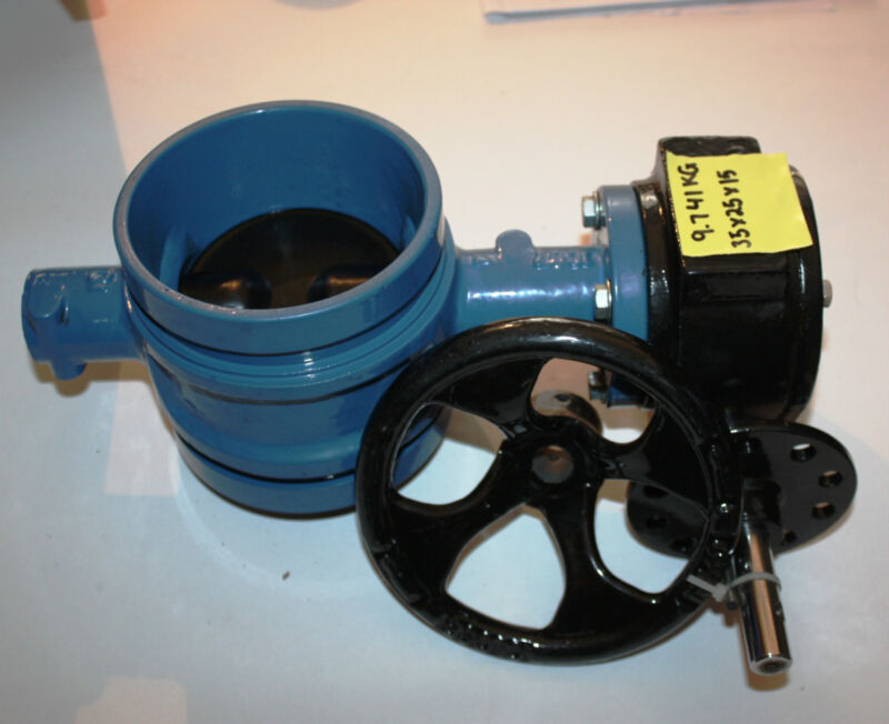 """4"""" inch 100mm DN100 shouldered butterfly valve with gearbox NEW"""