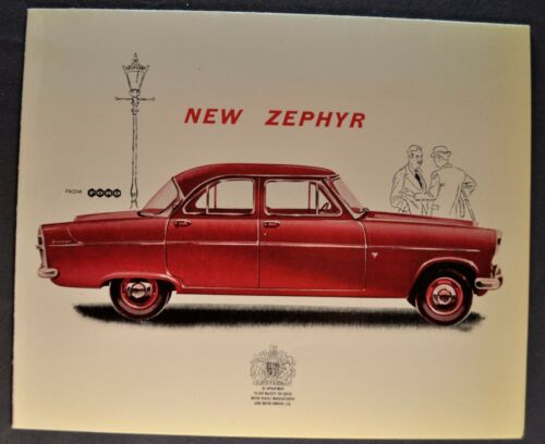 1960 Zephyr English Ford Sales Brochure Folder Excellent Original 60