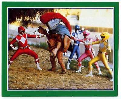 Power Rangers Fight #230 Power Rangers 1994 Merlin Sticker (C1379)